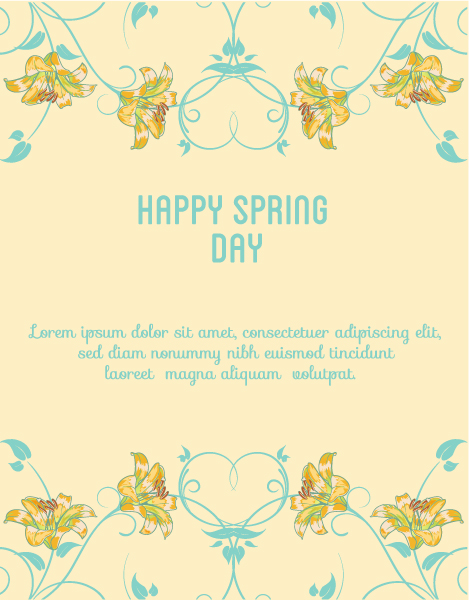 Amazing Creative Eps Vector: Spring  Eps Vector Illustration With Flowers 1