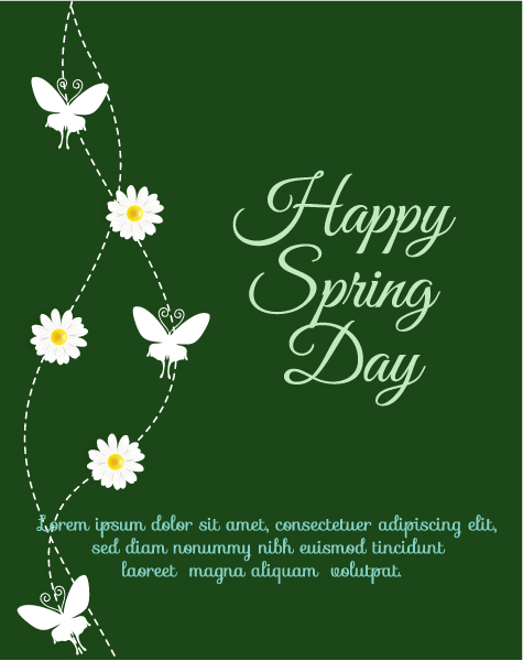 Buy Illustration Vector Graphic: Spring  Vector Graphic Illustration With Flowers 1