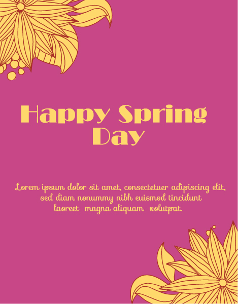 Illustration Vector Spring  Vector Illustration  Flowers 1
