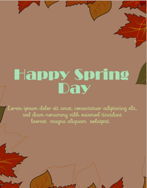 Special Vector Vector Art: Spring  Vector Art Illustration With Flowers 1