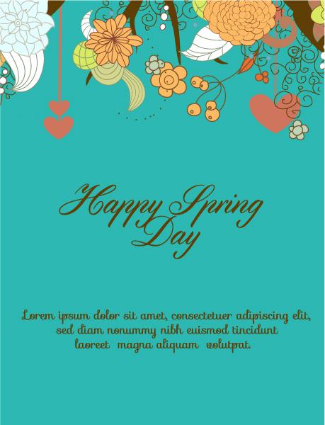 Special Flowers Vector Illustration: Spring  Vector Illustration Illustration With Flowers 1