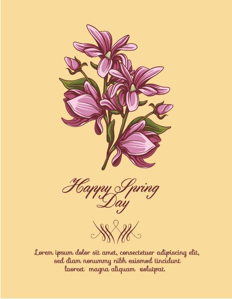 Decorative, Vector, Creative Vector Illustration Spring  Vector Illustration  Flowers 1