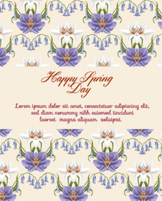 Spring  Vector illustration with flowers Vector Illustrations vector