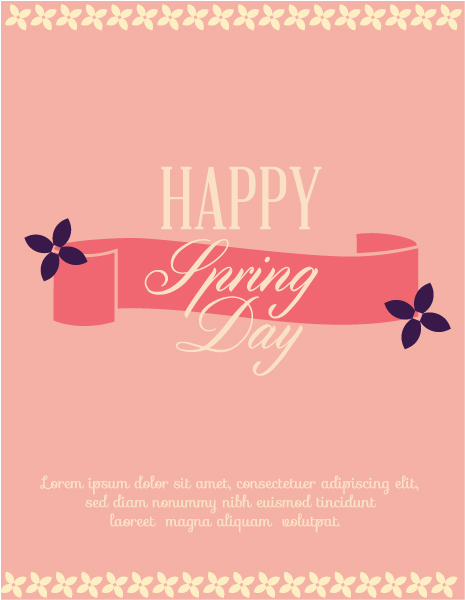 Day Vector Background: Valentines Day Vector Background Illustration With Ribbon And Flower 3