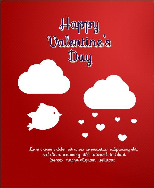 Amazing Birds Vector Illustration: Valentines Day Vector Illustration Illustration With Heart And Birds 2015 05 05 173