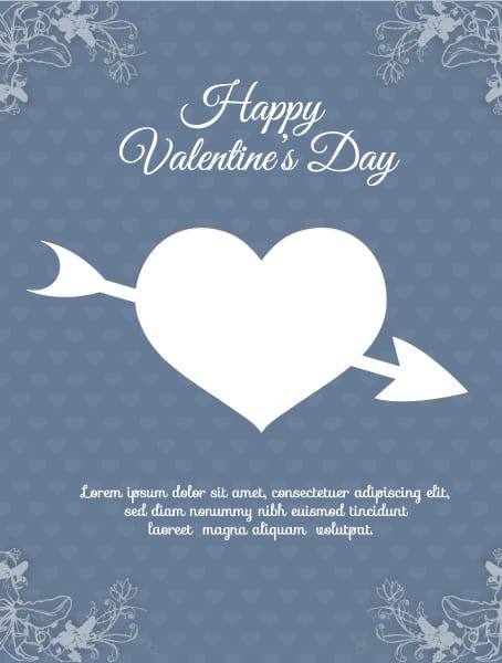 Day Vector Artwork Valentines Day Vector Illustration  Heart  Florals 2015 05 05 174