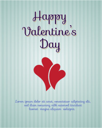 Valentine's Day Vector illustration with heart Vector Illustrations vector