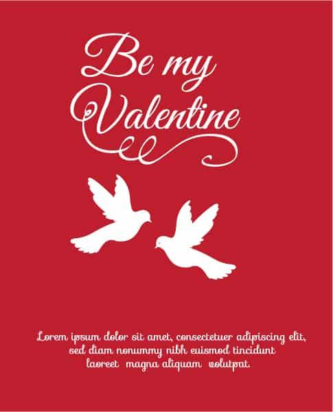 Day, Vector, Advertise Vector Artwork Valentines Day Vector Illustration  Heart  Birds 3