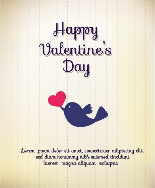 "Birds, ""valentines"" Vector Illustration Valentines Day Vector Illustration  Heart  Birds 3"