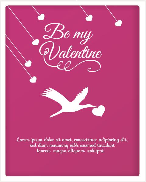 Illustration Vector Graphic Valentines Day Vector Illustration  Heart  Birds 3