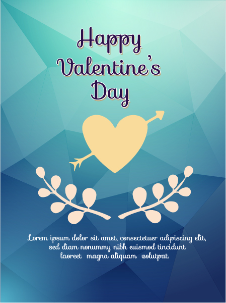 """valentines"", Illustration Vector Artwork Happy  Valentines Day Vector Illustration  Heart 2015 05 05 188"