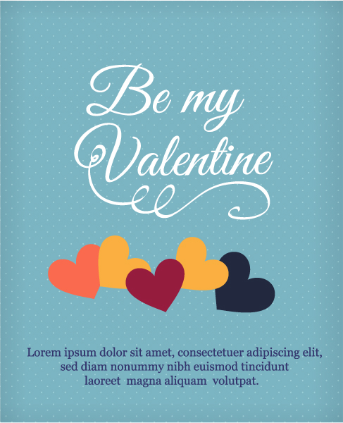 Download Day Vector: Happy  Valentines Day Vector Illustration With Heart 3