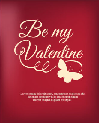 Happy  Valentine's Day Vector illustration with butterfly Vector Illustrations vector