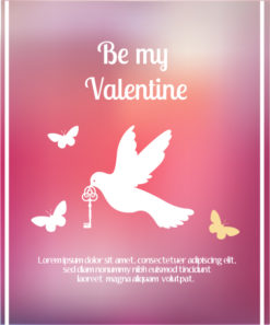 Happy  Valentine's Day Vector illustration with bird Vector Illustrations vector