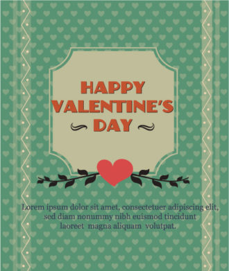 Happy  Valentine's Day Vector illustration with frame Vector Illustrations vector