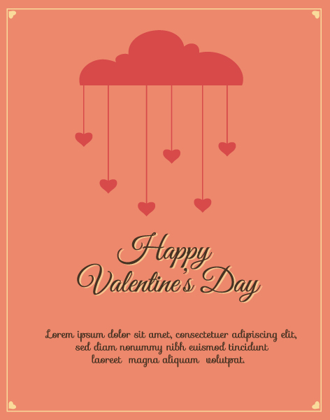 Happy  Valentine's Day Vector illustration with spring flowers Vector Illustrations [tag]