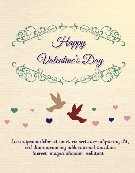 Happy  Valentine's Day Vector illustration with frame Vector Illustrations [tag]