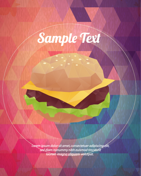 Vector Illustration with abstract background with food Vector Illustrations vector