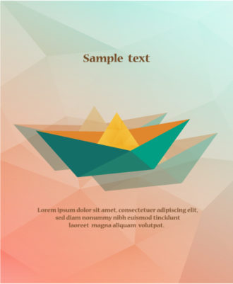 Vector Illustration with abstract background with boat Vector Illustrations vector