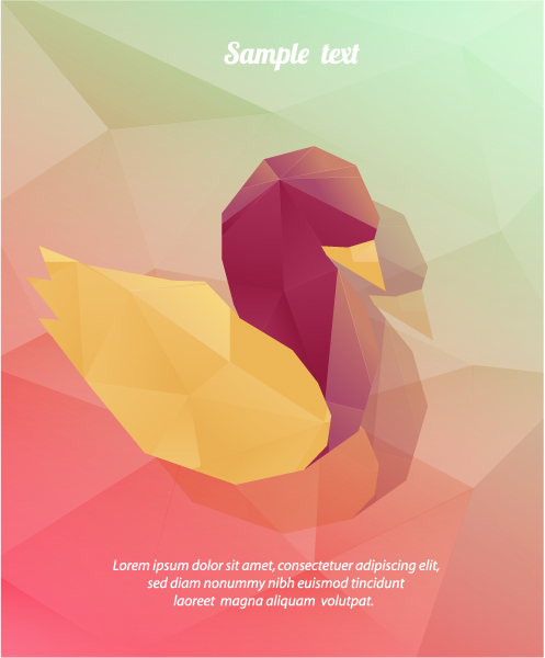 Vector Illustration with abstract background with bird 2015 05 05 276