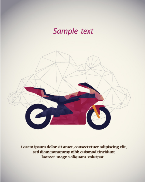 Vector Illustration with abstract background with motorcycle 2015 05 05 277