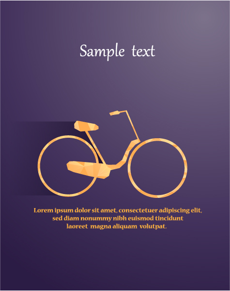 Best Vector Vector Artwork: Vector Artwork Illustration With Abstract Background With Bicycle 1