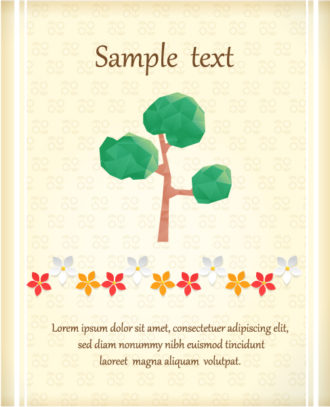 Vector Illustration with abstract background with tree Vector Illustrations vector