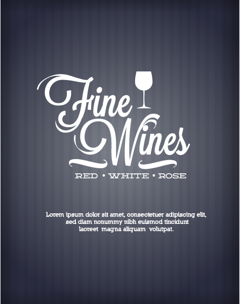 Vector Illustration with abstract background with wine Vector Illustrations vector