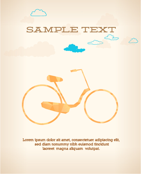 Bold With Vector Artwork: Vector Artwork Illustration With Abstract Background With Bicycle 1