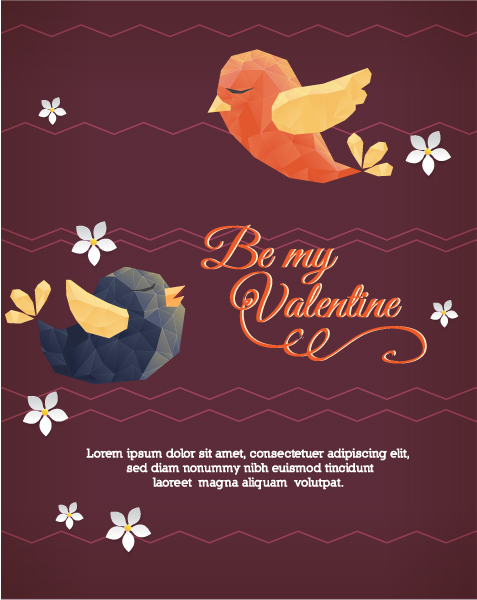 Vector Illustration with abstract background with birds Vector Illustrations vector