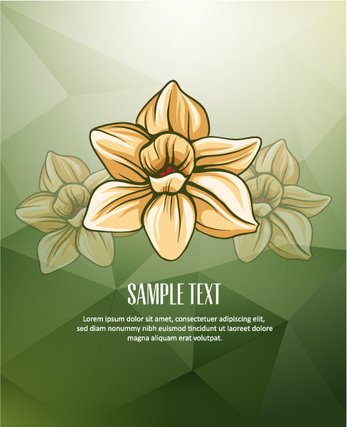 Vector Illustration with abstract background with flowers Vector Illustrations vector