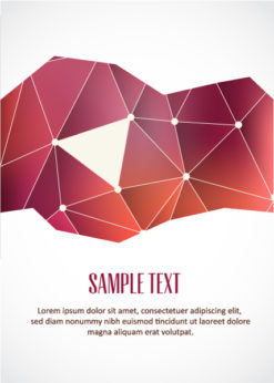 Vector Illustration with abstract background with typographic elements Vector Illustrations vector