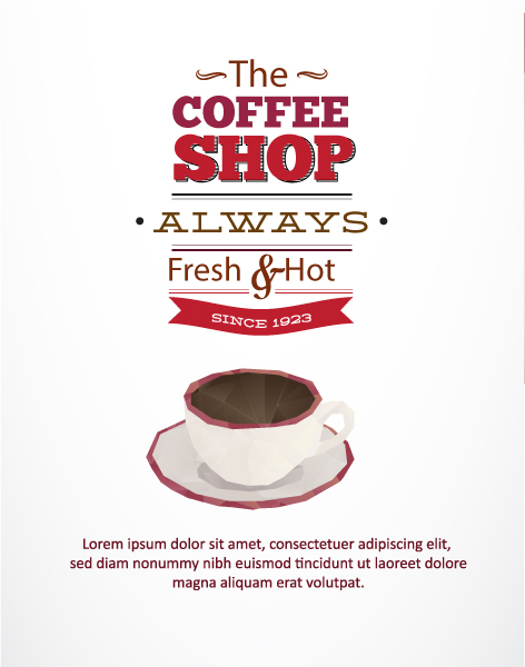Vector Illustration with abstract background with coffee cup Vector Illustrations vector