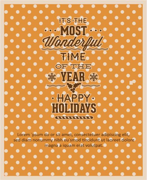 Christmas, Vector Vector Illustration Christmas Vector Illustration  Typography Elements 2015 05 05 375