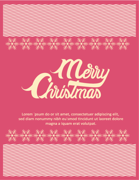 Bold Christmas Vector Background: Christmas Vector Background Illustration With Typography Elements 5