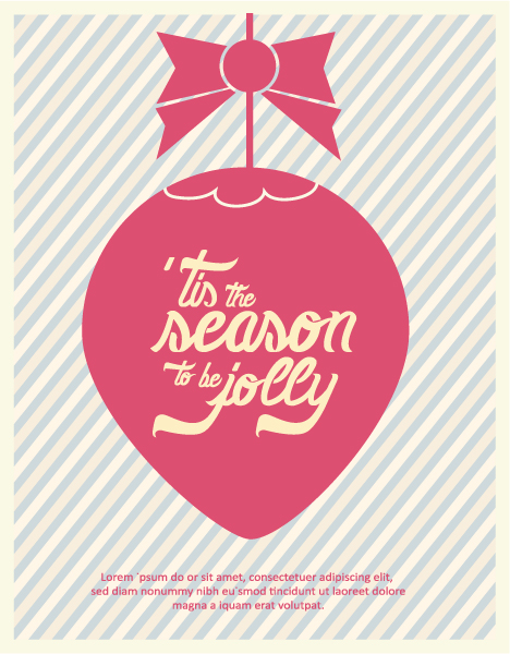 Special Vector Vector Design: Christmas Vector Design Illustration With Typography Elements 2015 05 05 380
