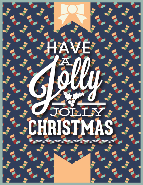 Typography, Illustration Vector Graphic Christmas Vector Illustration  Typography Elements 5