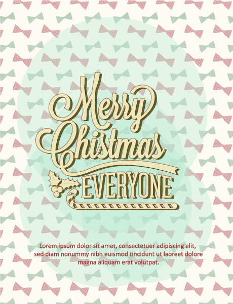 Vector, Typography Vector Illustration Christmas Vector Illustration  Typography Elements 2015 05 05 389