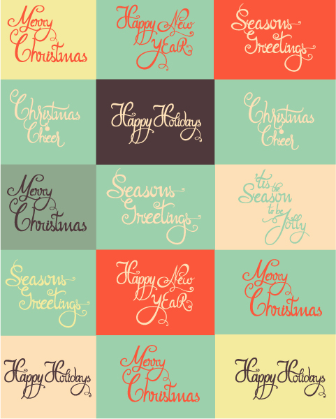 Christmas Vector Image Christmas Vector Illustration  Typography Elements 5