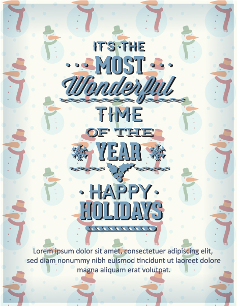 Illustration, Shape, Vector, Christmas Vector Graphic Christmas Vector Illustration  Typography Elements 5