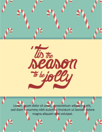 Christmas Vector illustration with typography elements Vector Illustrations tree