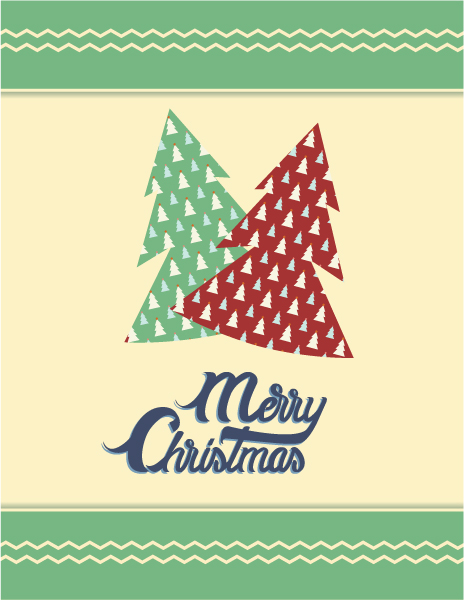 Best Typography Vector Design: Christmas Vector Design Illustration With Typography Elements 5