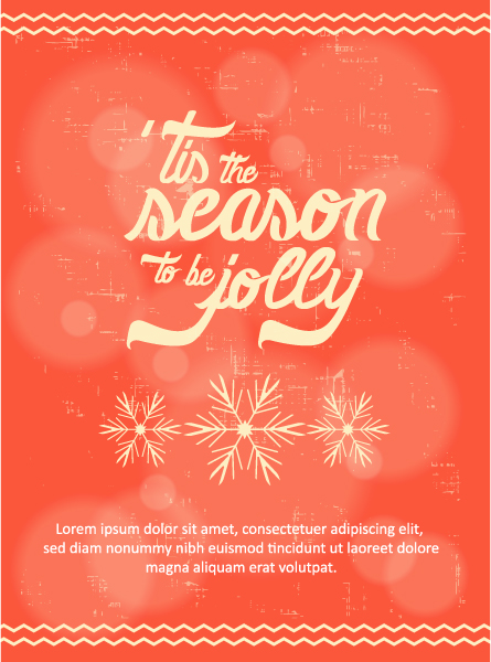 Trendy Vector Vector Art: Christmas Vector Art Illustration With Typography Elements 2015 05 05 402