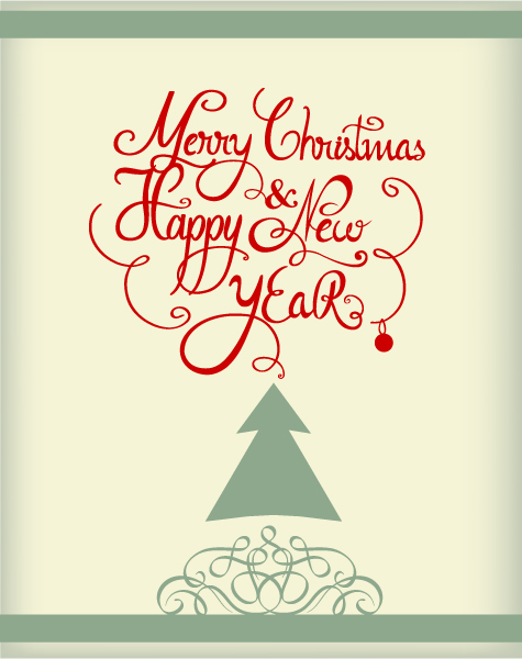 Buy Set Vector Image: Christmas Vector Image Illustration With Typography Elements 2015 05 05 403