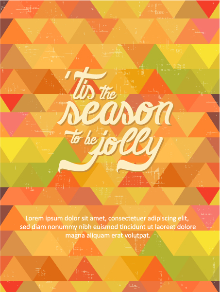 Christmas Vector illustration with typography elements 2015 05 05 404