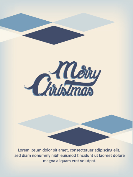 New Christmas Vector Artwork: Christmas Vector Artwork Illustration With Typography Elements 2015 05 05 406