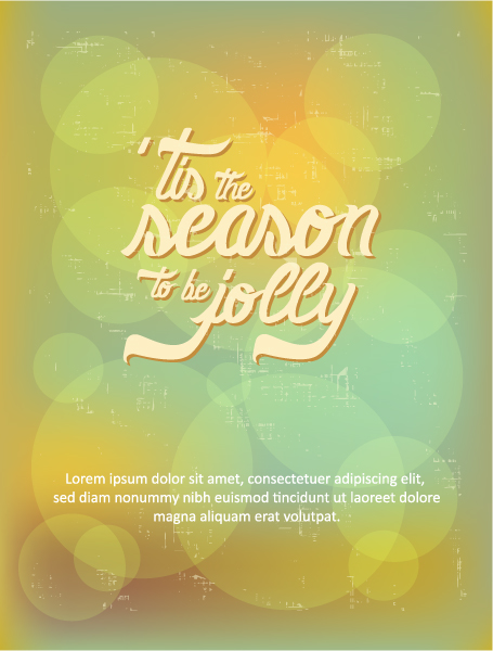 Typography Vector Art: Christmas Vector Art Illustration With Typography Elements 2015 05 05 409