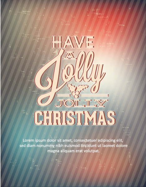 Bold Christmas Vector Graphic: Christmas Vector Graphic Illustration With Typography Elements 2015 05 05 411