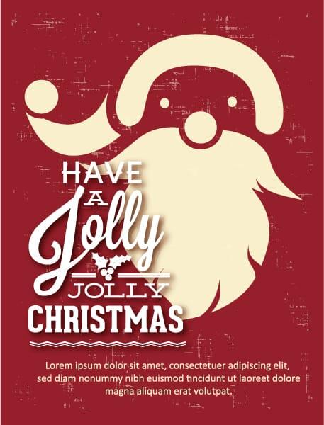 New Shape Eps Vector: Christmas Eps Vector Illustration With Santa 5