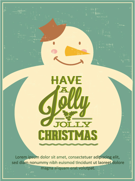 Christmas, Vector, Snowman Vector Graphic Christmas Vector Illustration  Snowman 2015 05 05 452